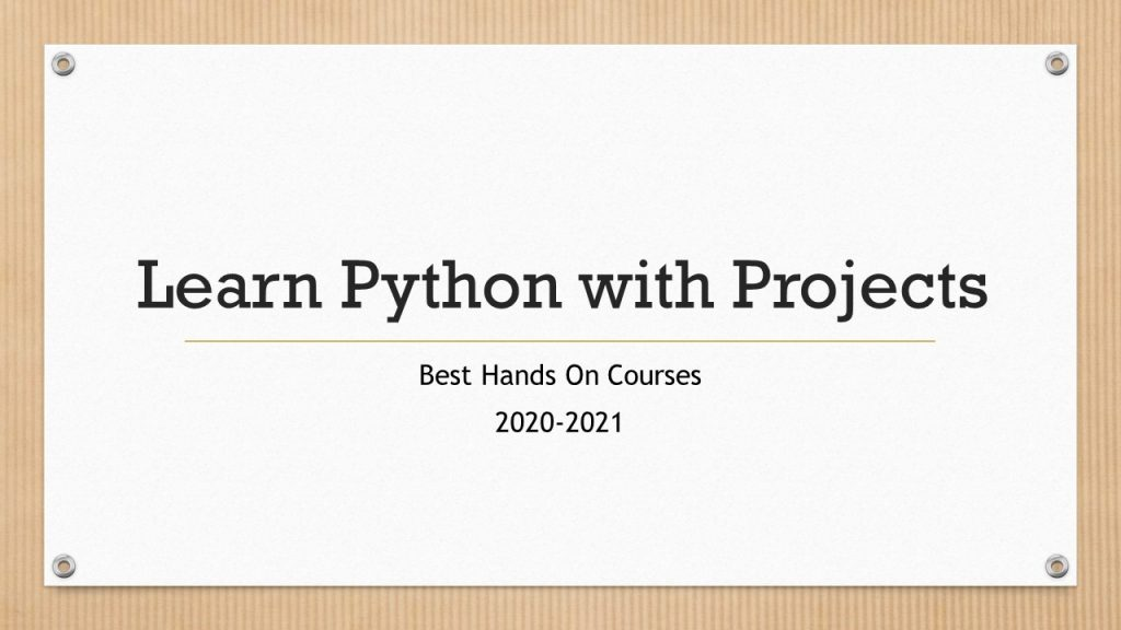Learn Python with Projects