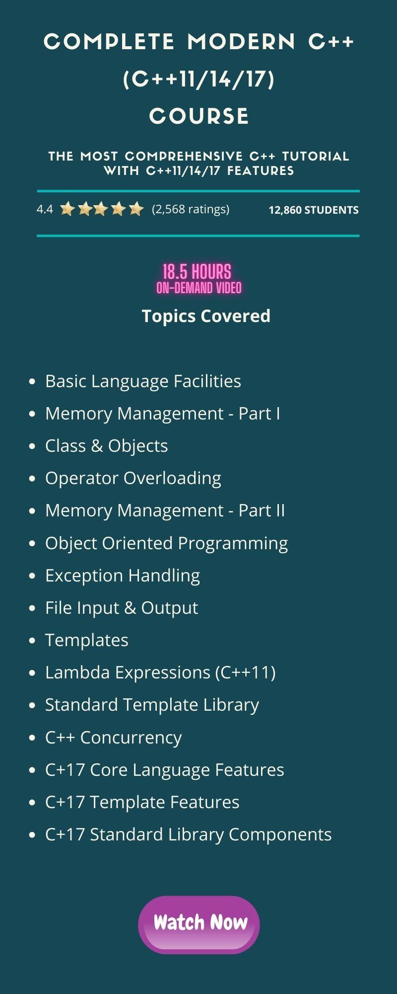 Complete Modern C++ (C++11_14_17)